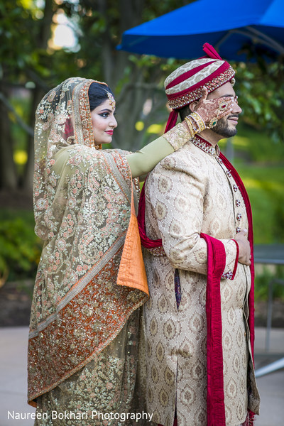 First look portraits in Herndon, VA Indian Wedding by Naureen Bokhari Photography