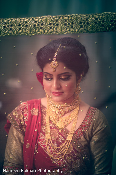 Indian bridal portrait in Herndon, VA Indian Wedding by Naureen Bokhari Photography
