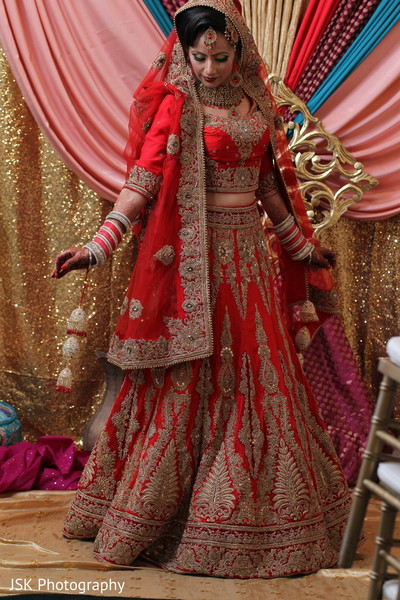 Lehenga in San Jose, CA Sikh Fusion Wedding by JSK Photography
