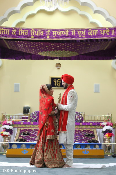 Sikh ceremony in San Jose, CA Sikh Fusion Wedding by JSK Photography