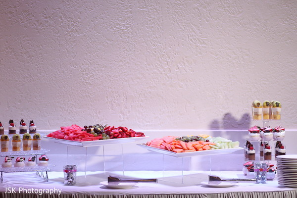 Dessert table in San Jose, CA Sikh Fusion Wedding by JSK Photography