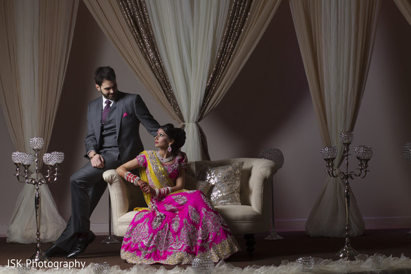 Indian reception portraits in San Jose, CA Sikh Fusion Wedding by JSK Photography