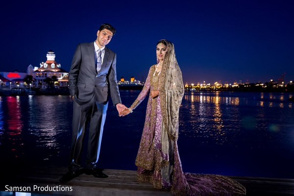 Walima Portrait in Anaheim, CA South Asian Wedding by Samson Productions