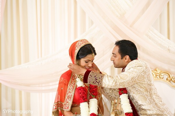 Ceremony in Princeton, NJ Indian Wedding by SYPhotography