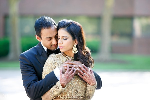 Reception Portrait in Princeton, NJ Indian Wedding by SYPhotography