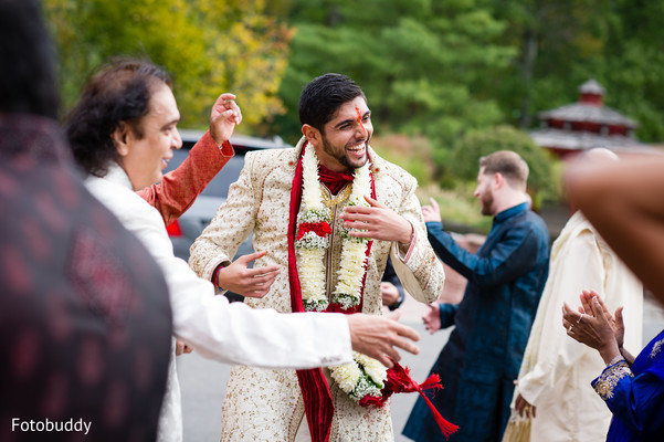 Baraat in Monmouth Junction, NJ South Asian Wedding by Fotobuddy Photography