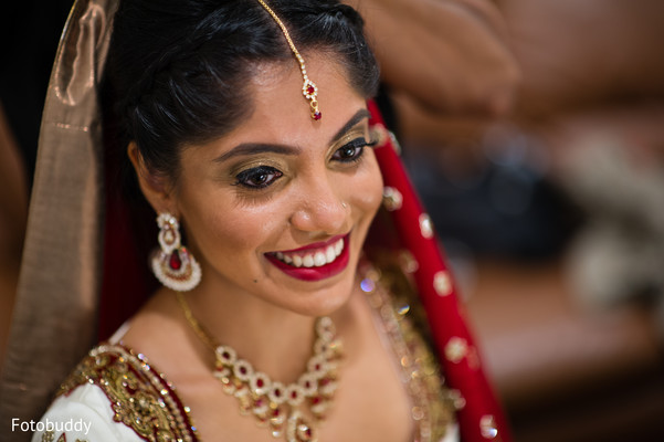 Indian bride makeup in Monmouth Junction, NJ South Asian Wedding by Fotobuddy Photography
