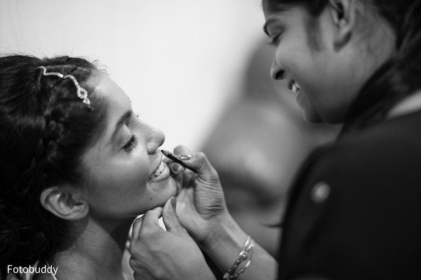 Indian bride getting ready in Monmouth Junction, NJ South Asian Wedding by Fotobuddy Photography