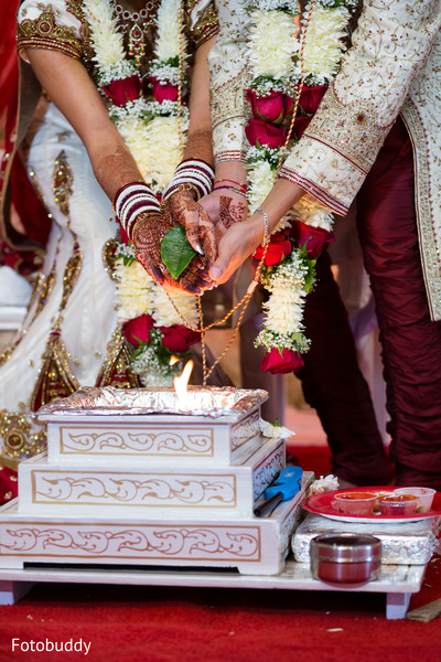 Ceremony in Monmouth Junction, NJ South Asian Wedding by Fotobuddy Photography