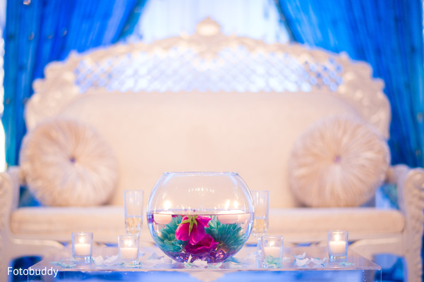 Reception floral and decor in Monmouth Junction, NJ South Asian Wedding by Fotobuddy Photography