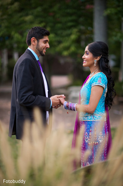 Indian reception portrait in Monmouth Junction, NJ South Asian Wedding by Fotobuddy Photography