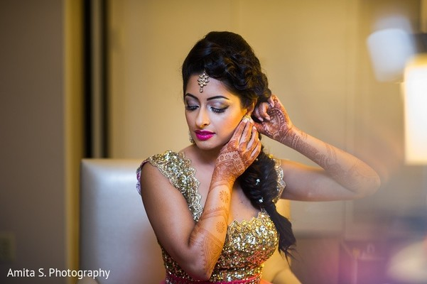 Getting Ready in Tampa, FL Indian Wedding by Amita S. Photography