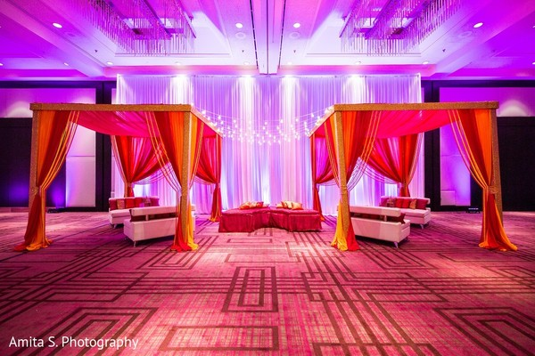 Sangeet Decor in Tampa, FL Indian Wedding by Amita S. Photography