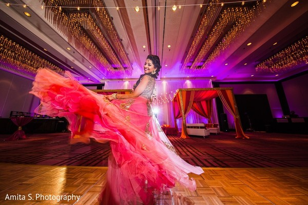 Sangeet Portrait in Tampa, FL Indian Wedding by Amita S. Photography