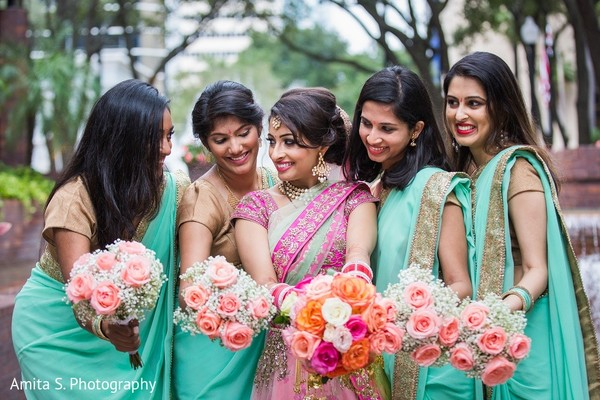 Bridal Party in Tampa, FL Indian Wedding by Amita S. Photography