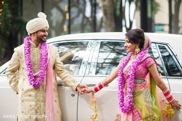 Wedding Portrait in Tampa, FL Indian Wedding by Amita S. Photography