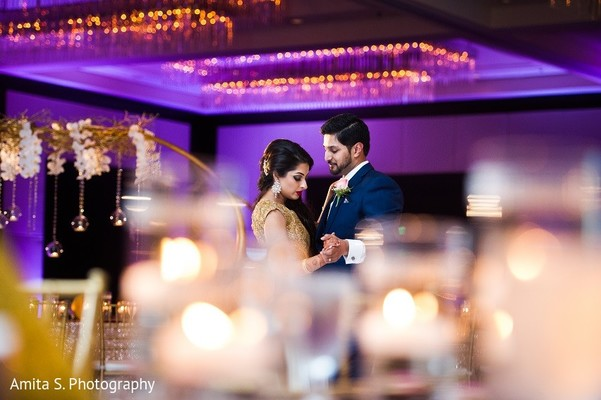 Reception Portrait in Tampa, FL Indian Wedding by Amita S. Photography