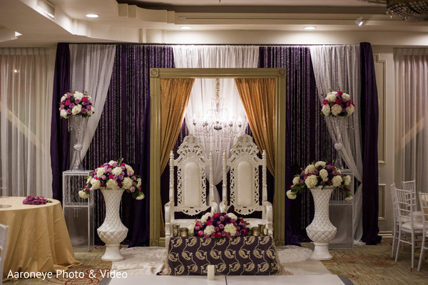 Sweetheart stage in Chino Hills, CA Indian Wedding by Aaroneye Photo & Video