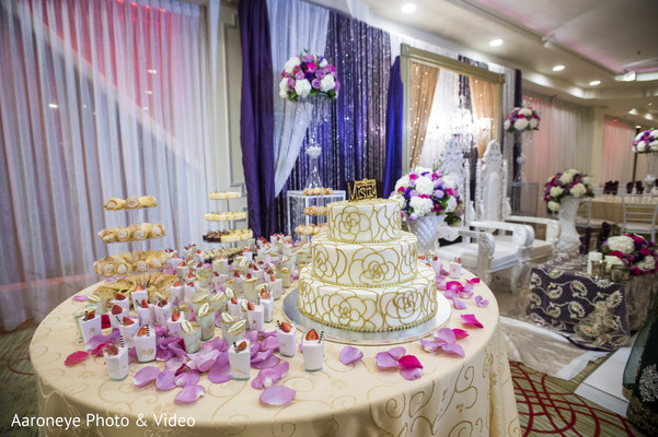 Dessert table and wedding cake in Chino Hills, CA Indian Wedding by Aaroneye Photo & Video