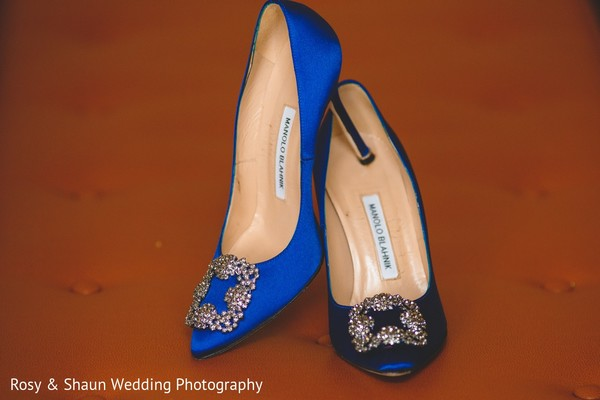 Shoes in Detroit, MI Indian Fusion Wedding by Rosy & Shaun Wedding Photographers