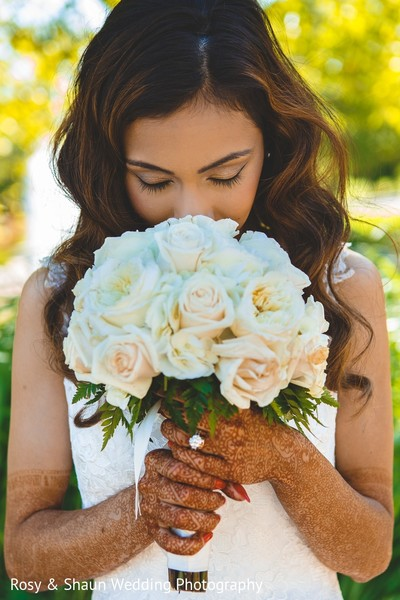 Bridal Bouquet in Detroit, MI Indian Fusion Wedding by Rosy & Shaun Wedding Photographers