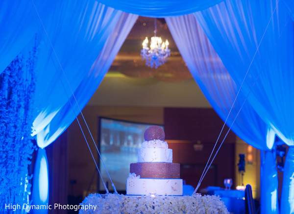 Wedding cake in Schaumburg, IL South Asian Wedding by High Dynamic Photography