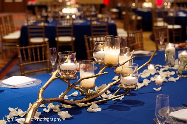 Reception floral and decor in Schaumburg, IL South Asian Wedding by High Dynamic Photography