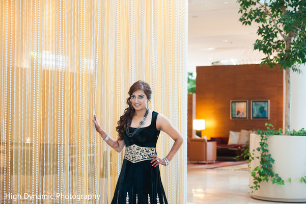 Reception portrait in Schaumburg, IL South Asian Wedding by High Dynamic Photography