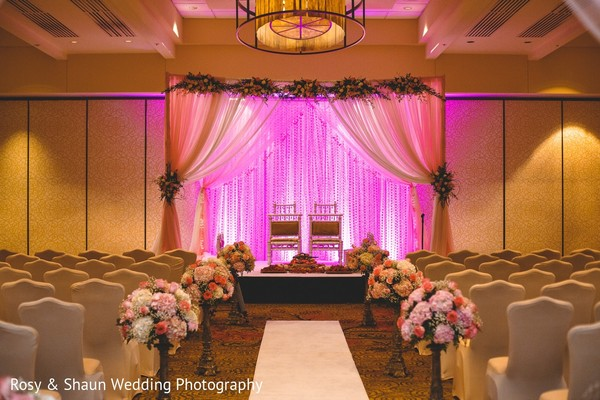 Mandap & Decor in Detroit, MI Indian Fusion Wedding by Rosy & Shaun Wedding Photographers