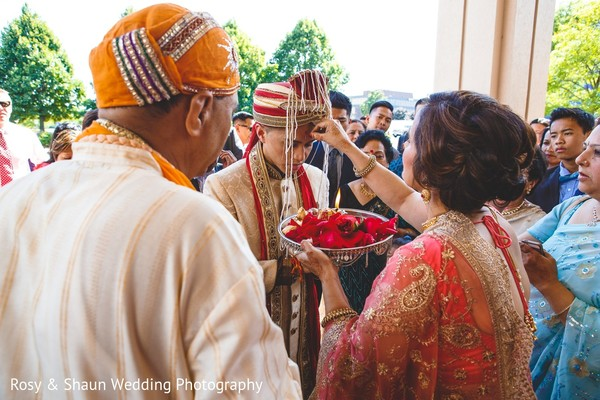 Ceremony in Detroit, MI Indian Fusion Wedding by Rosy & Shaun Wedding Photographers