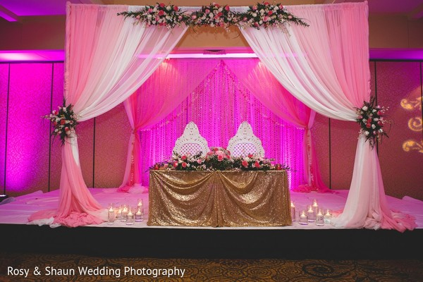 Floral & Decor in Detroit, MI Indian Fusion Wedding by Rosy & Shaun Wedding Photographers