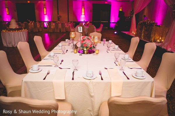 Tablescape in Detroit, MI Indian Fusion Wedding by Rosy & Shaun Wedding Photographers