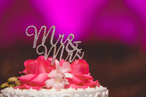 Cake Topper in Detroit, MI Indian Fusion Wedding by Rosy & Shaun Wedding Photographers