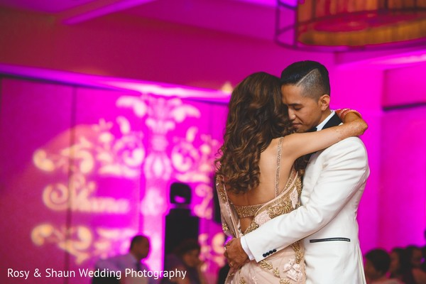 Reception in Detroit, MI Indian Fusion Wedding by Rosy & Shaun Wedding Photographers