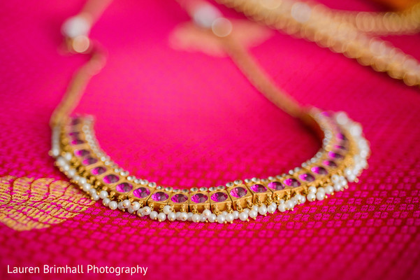 Necklace in King of Prussia, PA South Asian Fusion Wedding by Lauren Brimhall Photography