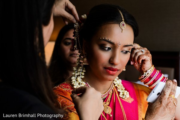 Getting ready in King of Prussia, PA South Asian Fusion Wedding by Lauren Brimhall Photography