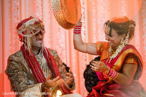 Ceremony in King of Prussia, PA South Asian Fusion Wedding by Lauren Brimhall Photography
