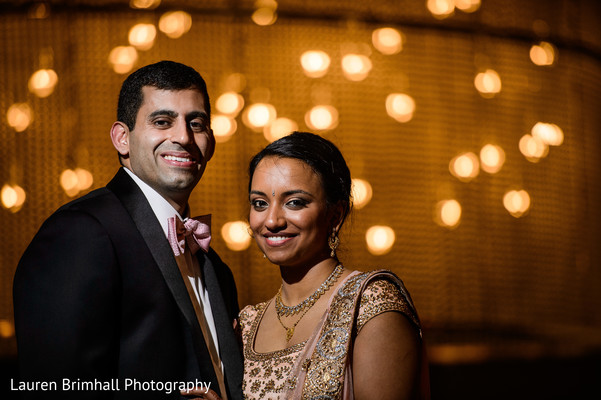 Reception portrait in King of Prussia, PA South Asian Fusion Wedding by Lauren Brimhall Photography