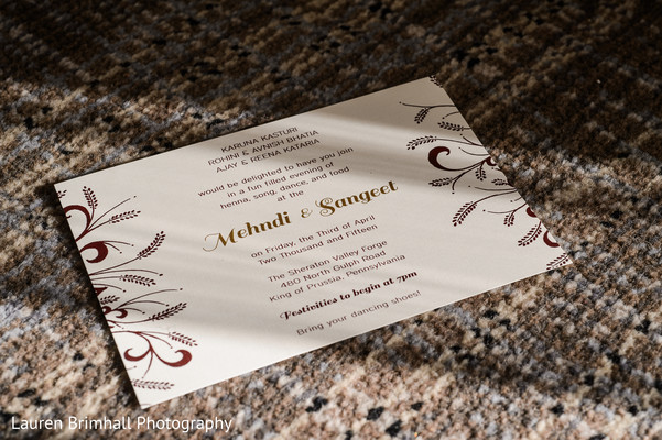 Indian wedding invitations in King of Prussia, PA South Asian Fusion Wedding by Lauren Brimhall Photography