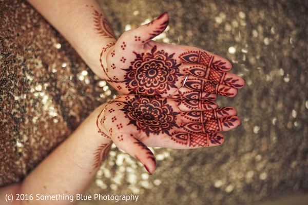 Mehndi hands in Jersey City, NJ Pakistani Fusion Wedding by Something Blue Photography