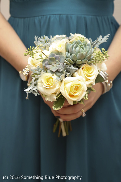 Bridesmaids bouquets in Jersey City, NJ Pakistani Fusion Wedding by Something Blue Photography