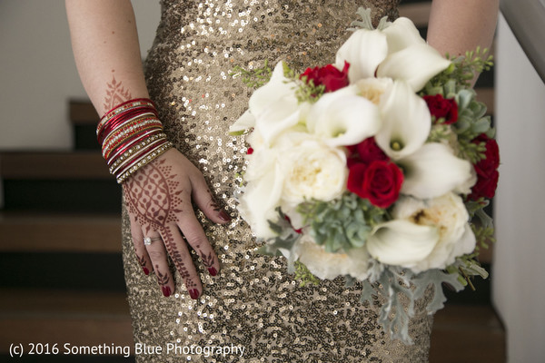 Bridal details in Jersey City, NJ Pakistani Fusion Wedding by Something Blue Photography