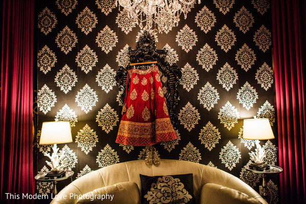 Lengha in Atlanta, GA Indian Fusion Wedding by This Modern Love Photography