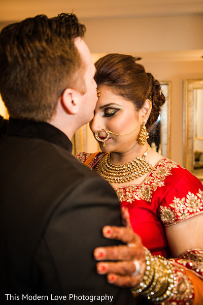 Reception portrait in Atlanta, GA Indian Fusion Wedding by This Modern Love Photography