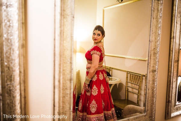 Bridal portrait in Atlanta, GA Indian Fusion Wedding by This Modern Love Photography