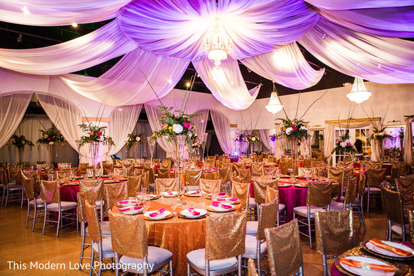 Reception floral and decor in Atlanta, GA Indian Fusion Wedding by This Modern Love Photography