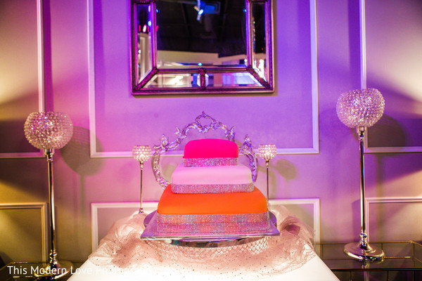 Wedding cake in Atlanta, GA Indian Fusion Wedding by This Modern Love Photography
