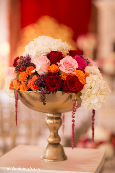 Ceremony floral & decor in Cambridge, MA Indian Wedding by The Wedding Story