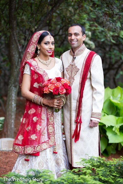 First Look in Cambridge, MA Indian Wedding by The Wedding Story