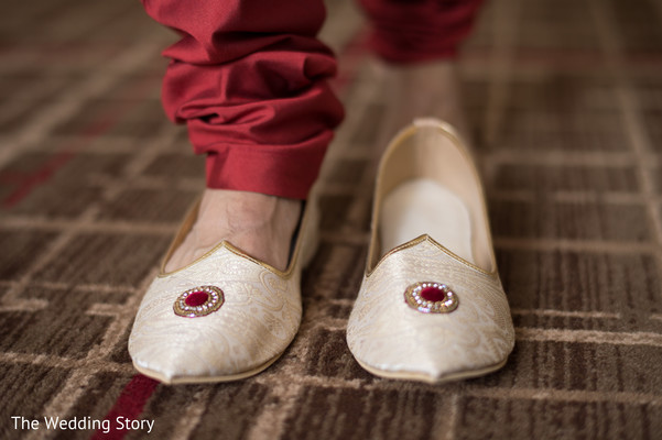 Shoes for groom in Cambridge, MA Indian Wedding by The Wedding Story